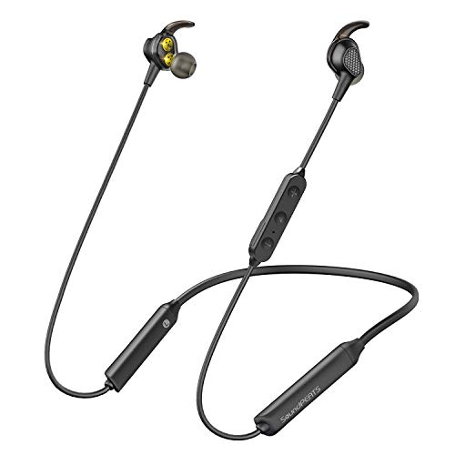 SoundPEATS Bluetooth Headphones Wireless Earbuds in-Ear Dual Dynamic Drivers Earphones with Mic IPX6 Sweatproof 13 Hours Playtime Headset- Engine