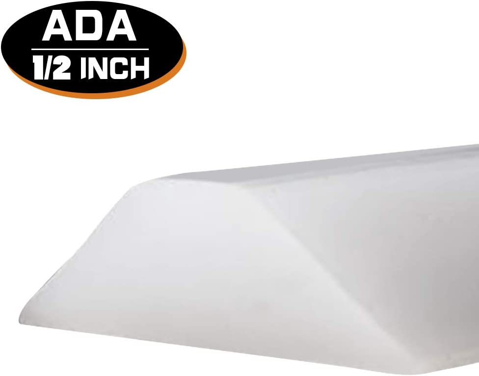 Accessibility or ADA Showers 39 Inch Collapsible Shower Threshold Water Dam Ideal for Wheelchair Accessible Translucent
