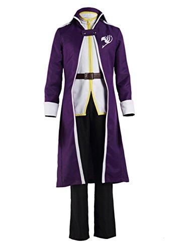 DAZCOS Adult US Size Anime Gray Fullbuster Purple Cosplay Costume (Men S) -