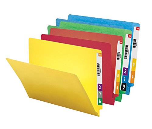 Smead Colored End Tab File Folder, Shelf-Master® Reinforced Straight-Cut Tab, Letter Size, Assorted Colors, 100 per Box (25013)