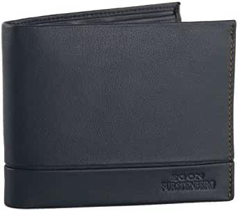 Wallet man EGON FURSTENBERG blue in leather with coin purse VA319