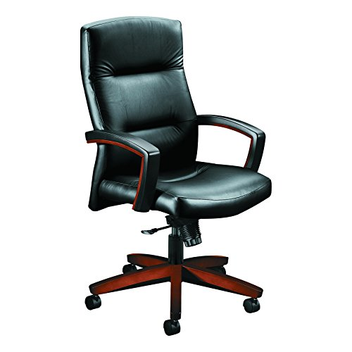 HON 5001COEE11 Executive High-Back Swivel/Tilt Chair Vinyl/Cognac, - High Series Chair Pneumatic Back