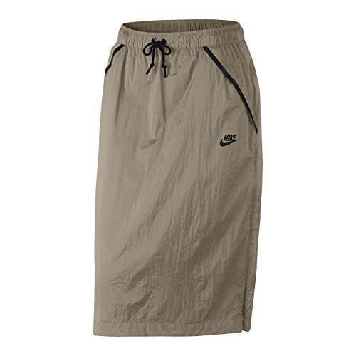NIKE Women's Tech Hypermesh Sportswear Skirt-Khaki-Small