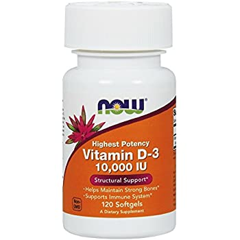 NOW Vitamin D-3 10,000 IU,120 Softgels