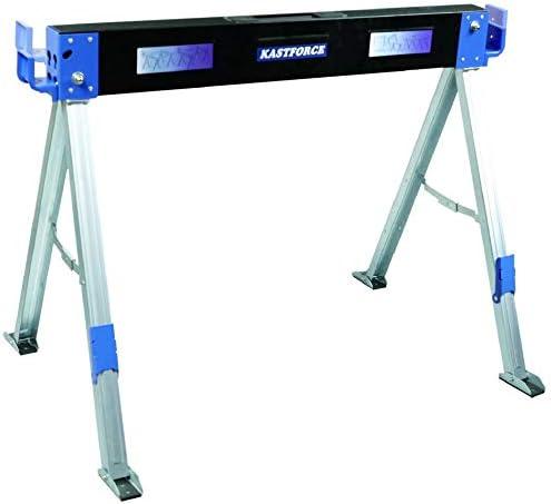 Kastforce KF3003 mesa de trabajo plegable para hombre de hierro con 2 posiciones de sujeci/ón de madera de 2200 libras por par