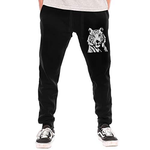 White Tiger Bengal Tiger Soft/Cozy Sweatpants, Men Active Basic Jogger Fleece Pants ()