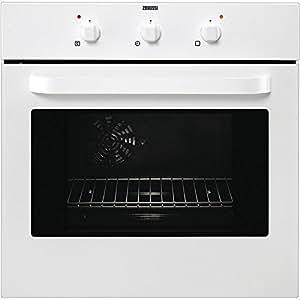 Zanussi ZOB 361 W - Horno (Eléctrico, Integrado, Color blanco, Giratorio, Frente, A)