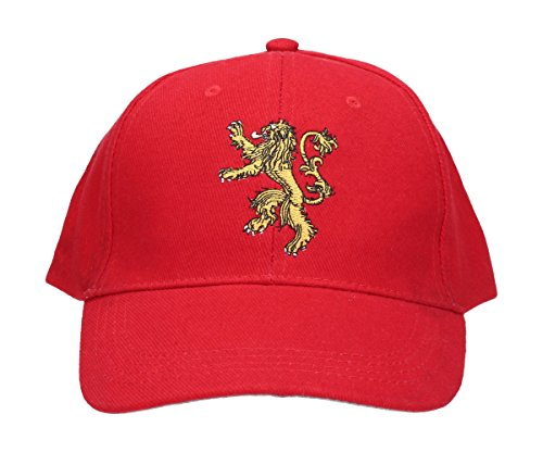SD Toys Lannister Game of Thrones, Gorra de Béisbol Unisex Adulto, Rojo, U