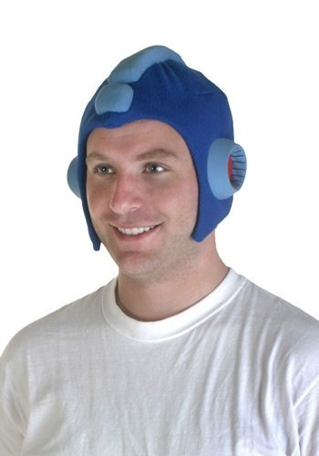 Video Game Character Costumes (GE Animation GE-8187 Mega Man 10 - MegaMan's Helmet Cosplay Hat)