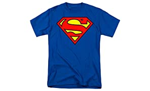 Superman Classic Shield Logo T Shirt & Stickers
