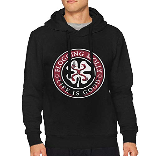 StellaR. Walker Mens Flogging Molly Music Band Drawstring Hooded Sports Sweater Hoodie Tops S