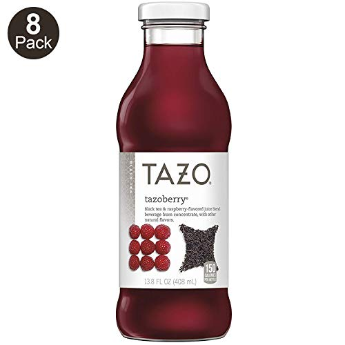 Tazo Tazoberry Iced Tea, 13.8 Ounce Glass Bottles, 8 Count