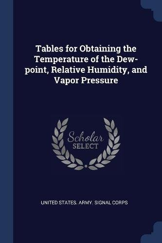 Tables For Obtaining The Temperature Of The Dew Point  Relative Humidity  And Vapor Pressure