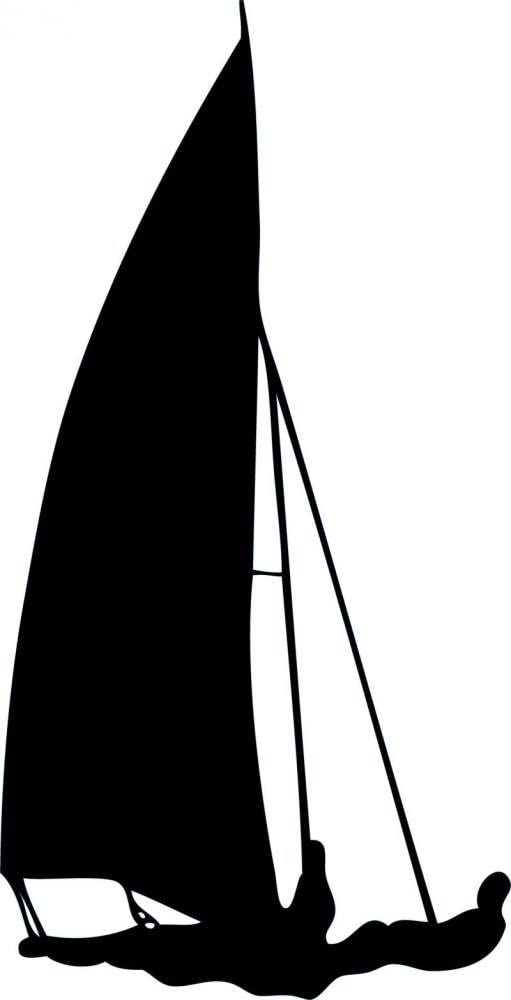 Wallmonkeys Wm246 Black And White Sailboat Silhouette Peel And Stick Wall Decals 30 In H X 15 In W Medium Large Home Kitchen