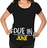 Awkward Styles Due In June Pregnancy Announcement Maternity T Shirt Mom To Be Baby Shower Gift Black 2XL