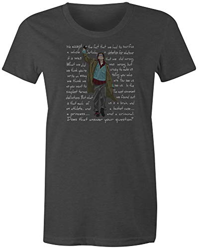 (9 Crowns Tees 80's Classic John Bender Graphic Shirt-Juniors Charcoal-Large)
