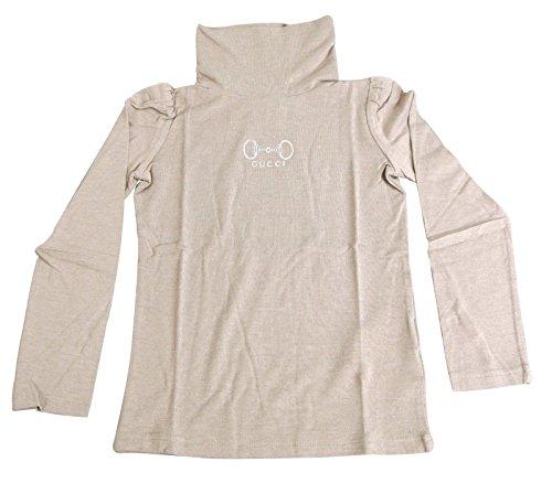 Gucci Beige Modal Cashmere Horsebit Turtle Neck T Shirt 265570 Size 4 by Gucci