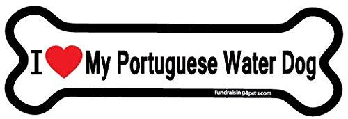 I Love My Portuguese Water Dog bone magnet