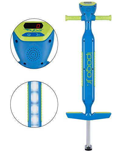 Flybar iPogo Jr. - Worlds First Interactive Counting Pogo Stick For Kids Ages 5 to 9 (Blue) by Flybar