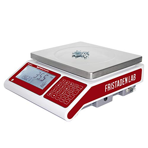 Industrial Counting Scale for Parts and Coins | 30kg (66lbs) Capacity and 0.5g Accuracy | Count and Weigh Hundreds of Small Parts or Coins in Seconds | Precision Electronic Gram Scale by Fristaden Lab