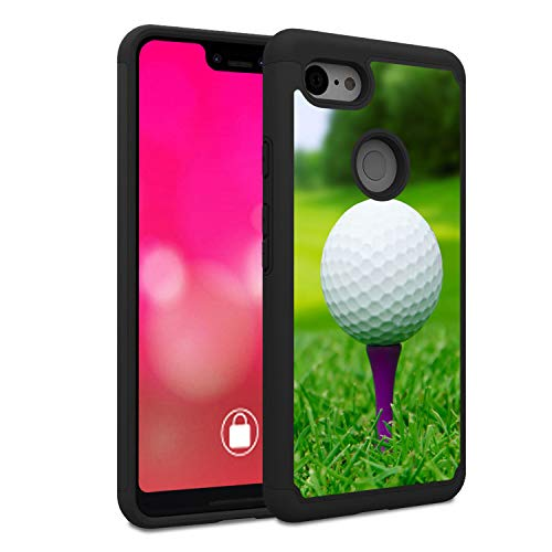 (Google Pixel 2 XL Case, Rossy Heavy Duty Hybrid TPU Plastic Dual Layer Armor Defender Protection Case Cover for Google Pixel 2 XL Case (2017),Golf Ball Tee )