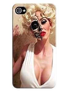 Fashion design hard back case cover skin tpu case for iphone4(Marilyn Monroe) by Kathleen Kaparski
