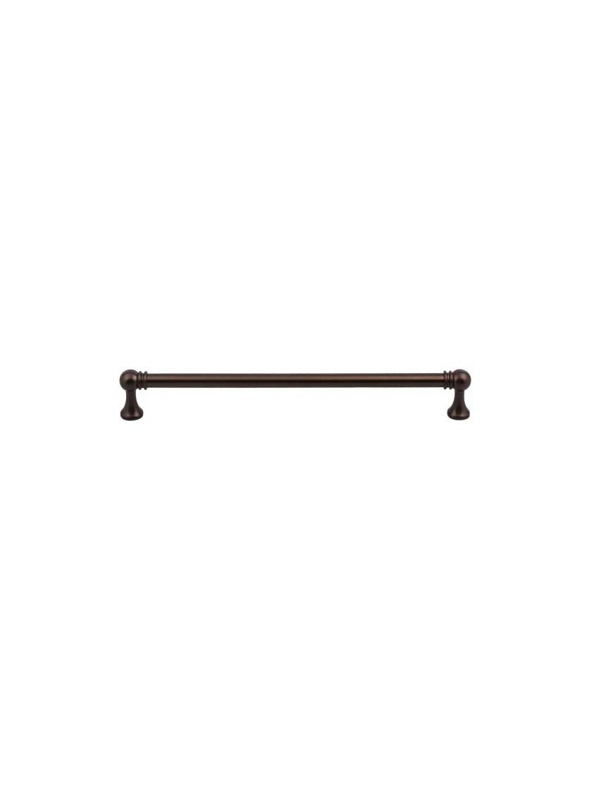 Top Knobs TK806ORB Serene Collection 8-13/16'' Kara Pull, Oil Rubbed Bronze