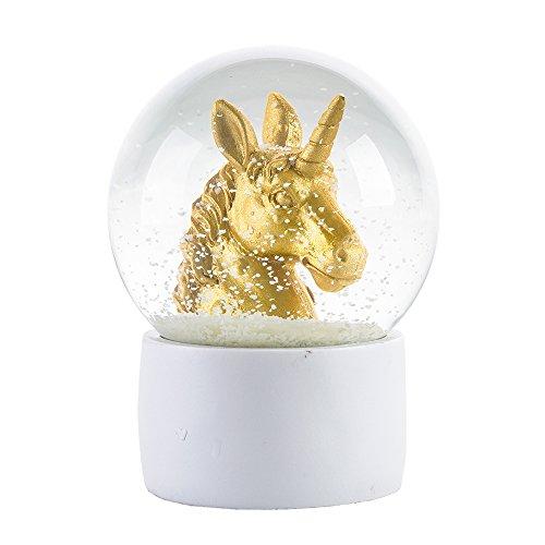 Unicorn Snowglobe - WOBAOS Snow Globes Valentine's Day Birthday Lighting Crafts - snowglobes Crystal Ball New Year's GIF (Diameter 80mm-100mm) (Diameter 100mm, Unicorn)