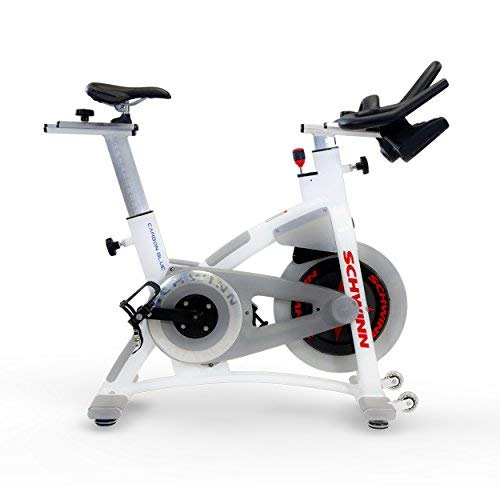 Schwinn AC Performance Plus Indoor Bike with Carbon Blue Belt Drive and Morse Taper - White
