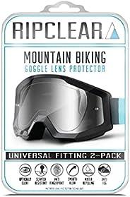 RIPCLEAR Mountain Bike Goggle Lens Protector (Tear Off Alternative) REDUCE WASTE - Mountain Bike, MTB, Downhil
