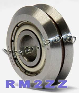 (Set of 8 RM2ZZ 3/8 V-Groove Guide Bearing Shielded Ball Bearings VXB Brand)