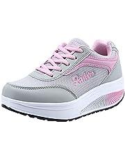 Zapatillas de Deportivos de Running para Mujer Gimnasia Ligero Sneakers,ZARLLE Moda Mujer Malla Zapatos de Aumento de Fondo Suave Zapatos de balanceo Zapatillas de Deporte