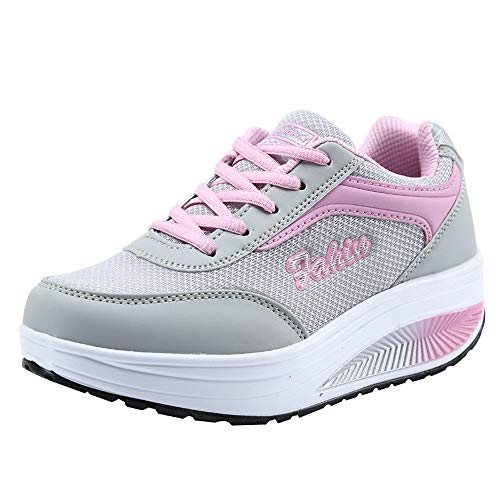 Amazon.com : 2019 Women Casual Sport Shoes, Mesh Heightening Shoes Soft Bottom Rocking Shoes Breathable Mesh Lace-Up Sneakers US 5.5-9 : Sports & Outdoors