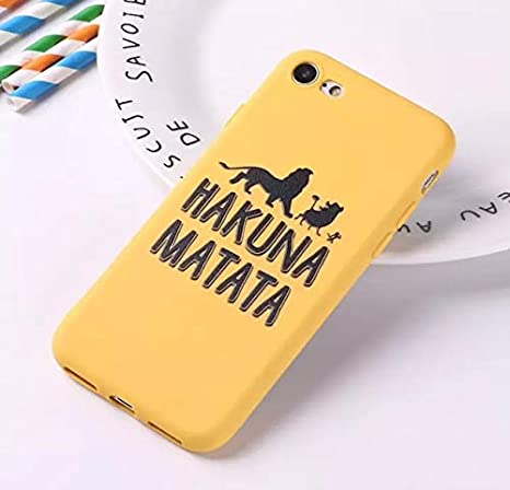 Amazon.com: Hakuna Matata Case for iPhone 6S 5S SE 8 8Plus X ...
