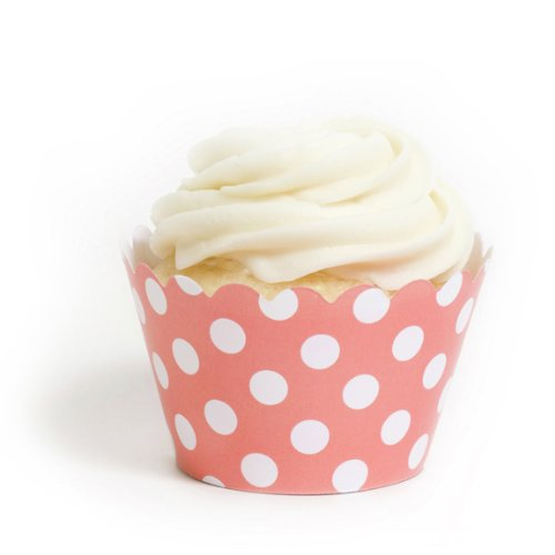 Dress My Cupcake Coral Wrappers
