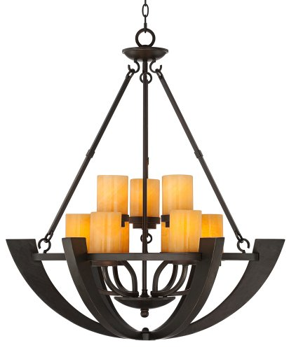 Sunset Onyx Stone 9-Light Entry Large Candle Chandelier Entry Chandelier Art