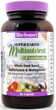 Bluebonnet Super Earth Multi-Nutrient Formula Iron Caplets, 45 Count by BlueBonnet (45 Caplets)