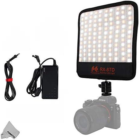 Falcon Eyes RX-8T 18W 5600K Portable Flexible LED Light CRI95 Roll-Flex Photo Light Kit On-Camera Lamp Daylight Splash-Proof for Video Stuido Photography Lighting