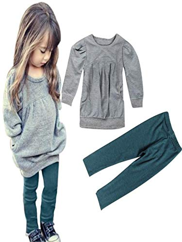 ❤ Conjunto para niños otoño Invierno, Toddler Kids Girls Outfit Clothes WarmManga Larga Camiseta + Pantalones Largos Absolute: Amazon.es: Ropa y ...