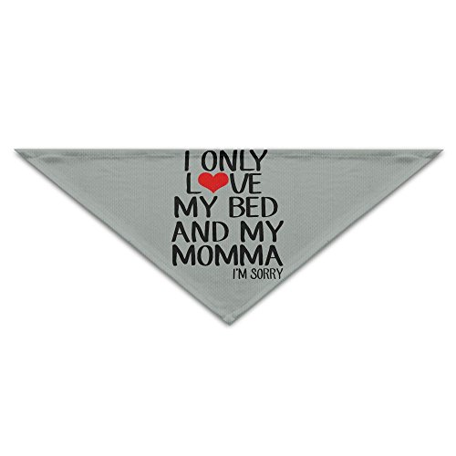 WuliWa45ggr Dog&Cat Bandana I Only Love My Bed And My Momma I'm Sorry Polyester Pet Cat Dog Triangle Scarf by WuliWa45ggr