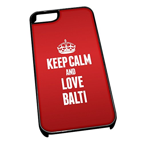 Nero cover per iPhone 5/5S 0798Red Keep Calm and Love Balti