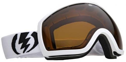 - Electric Eg2 Gloss White Bronze Oversized Ski Snowboard Goggles