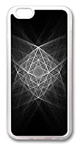 iPhone 6 Cases, Abstract Structure Chalk Illustration Custom Design TPU Case Cover for Apple iPhone 6 with 4.7 inch Screen TPU Transparent