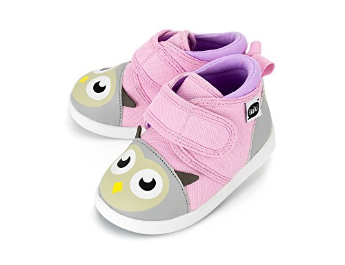 Squeaky Shoes for Toddlers w/ Adjustable Squeaker, By ikiki (4, Dr. Owlivia Hoot) - Baby Girl Squeaker Shoes