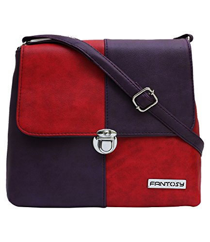 fantosy women purple and red zoomy slingbag fnsb-159