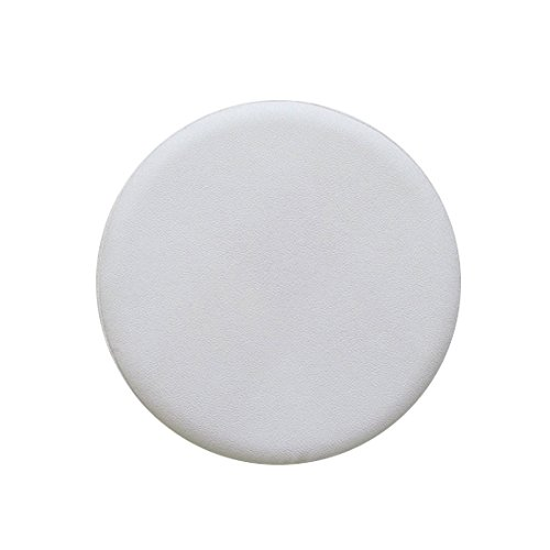 Rosavida 16 Inch Waterproof Round Stool Cover Faux Leather Anti-slip Round Barstool Seat Covers White - Faux Leather Large Round Stool