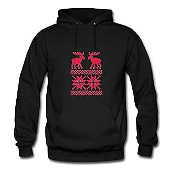 Christmas Sweater Design Hot X-large Hoodies Custom-made For Women Black