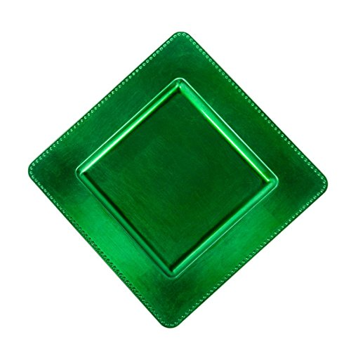 Square Plates Green Charger - 13 in. Valley Green Square Charger Plates 4/pack