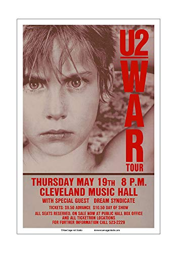 Used, Raw Sugar Art Studio U2 1983 Cleveland Concert Poster for sale  Delivered anywhere in USA
