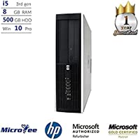 HP 8100 Desktop Computer Intel i5 3.2GHz Processor 8GB Memory 500GB HDD Genuine Windows 10 Professional (Certified Refurbished)